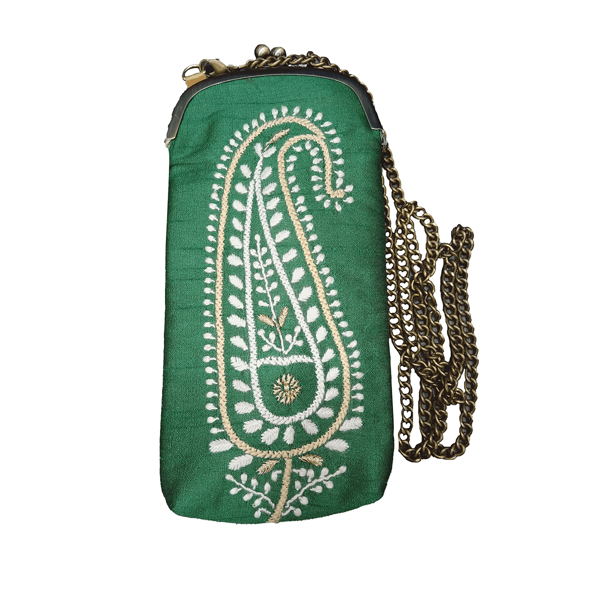 Silk Mobile Pouch (Green)