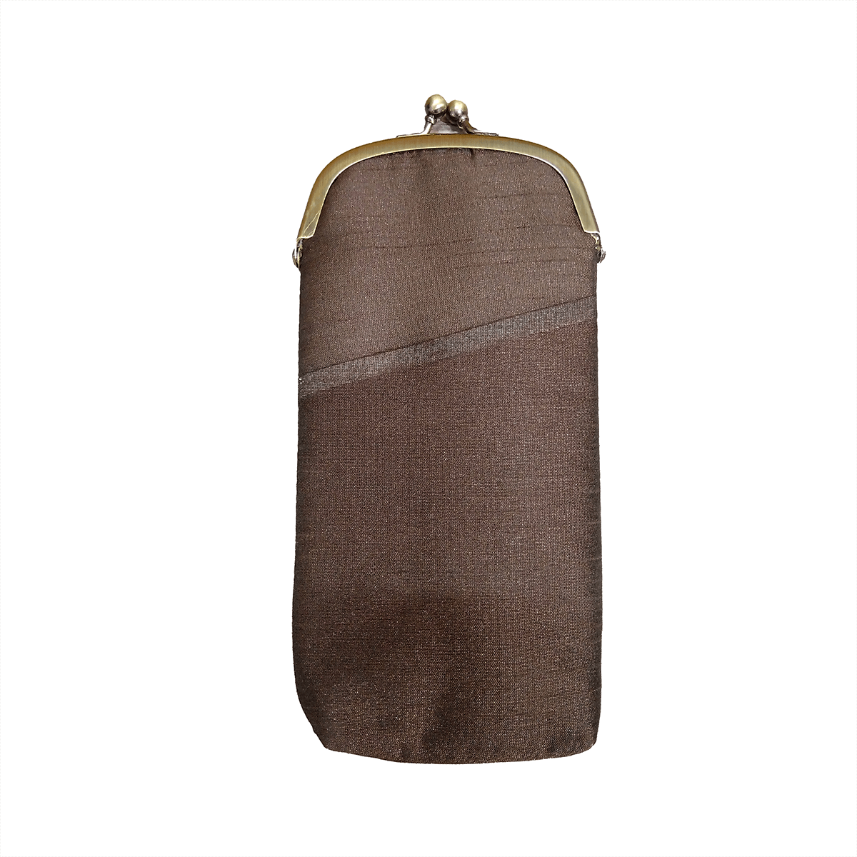 Silk Mobile Pouch (Brown)