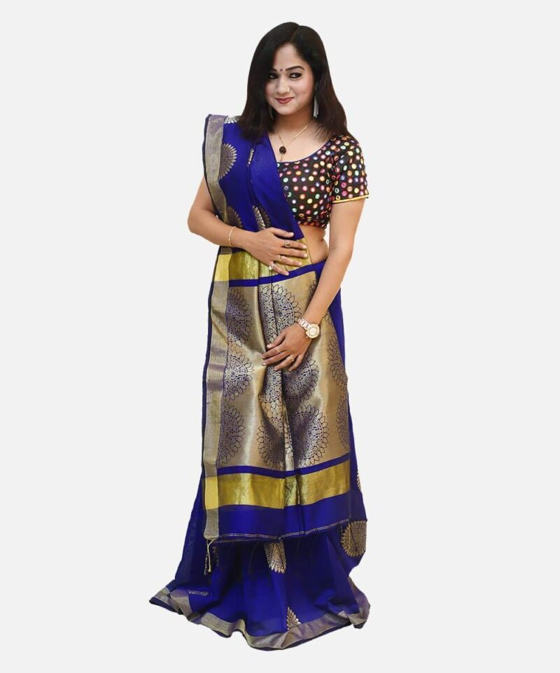 Banarasi Silk Saree Blue