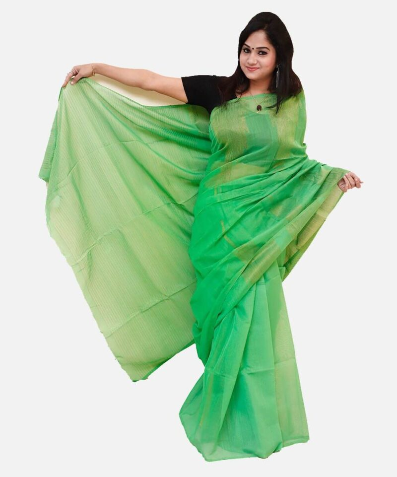 Cotton Silk Saree Green