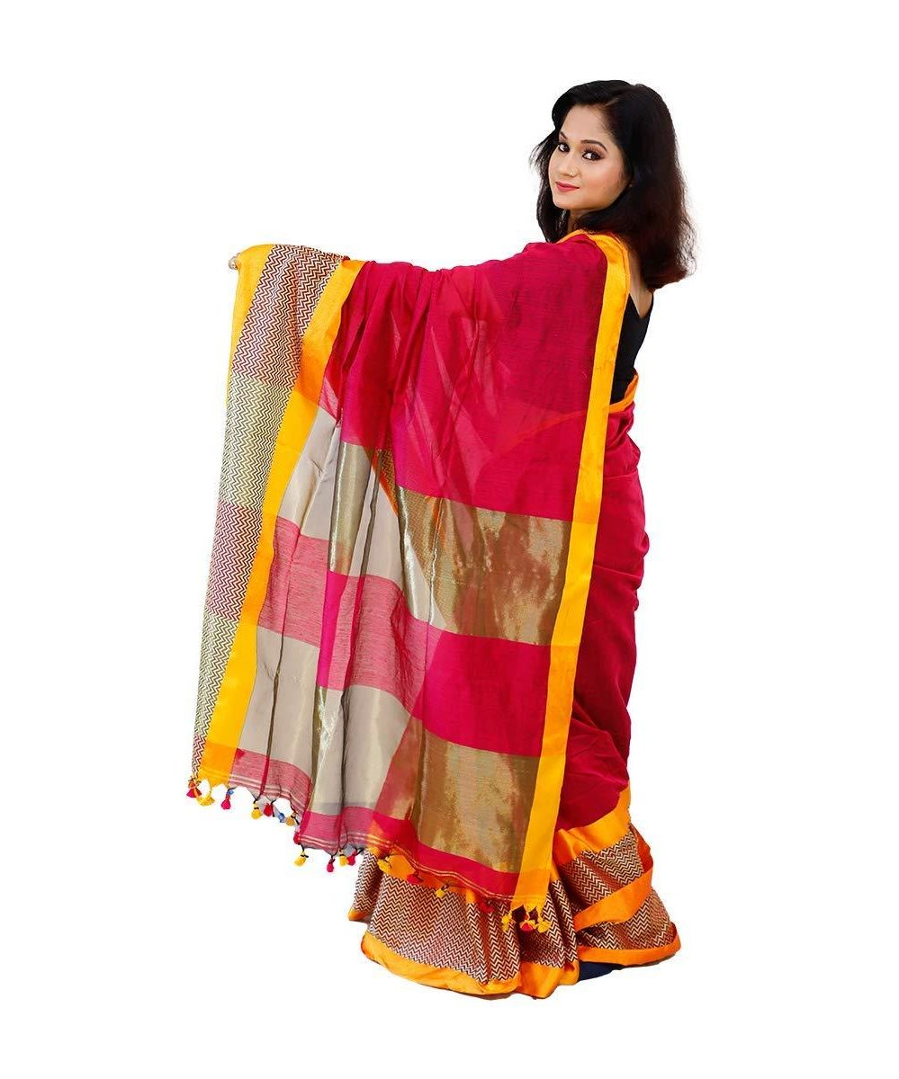 handloom cotton silk saree