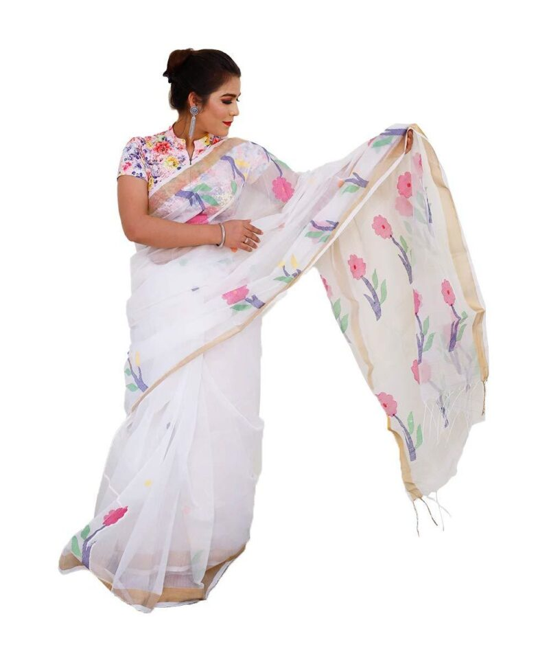 Pure Resham Muslin silk Saree