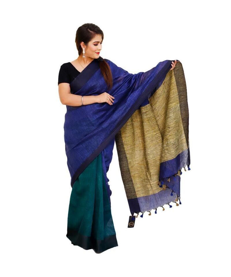 Handloom Khadi Cotton Sarees With Ghicha Pallu