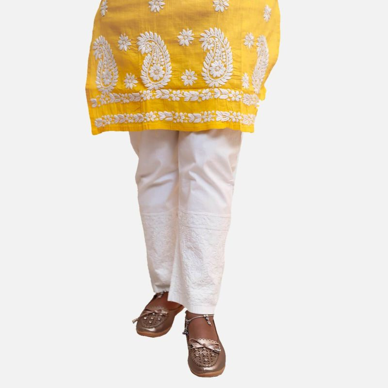 Chikankari Cotton Pant