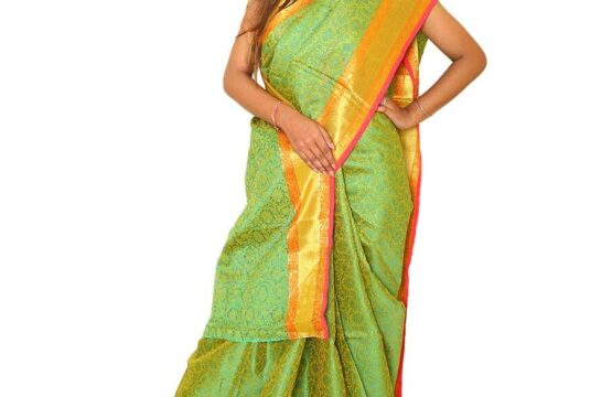 Banarsi Silk Saree Green