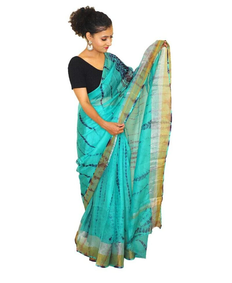 Kota Silk Saree windy blue