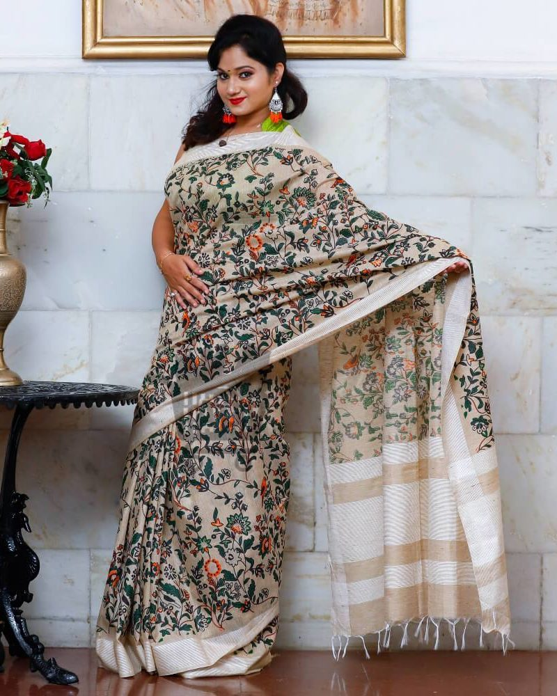 Digital Printed Silk Saree