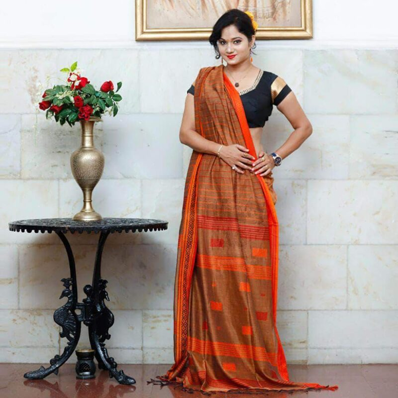 Kantha Work Cotton Saree