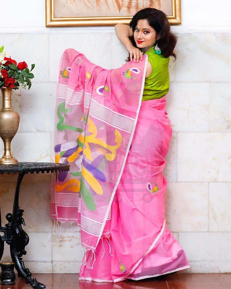 silk Jamdani saree