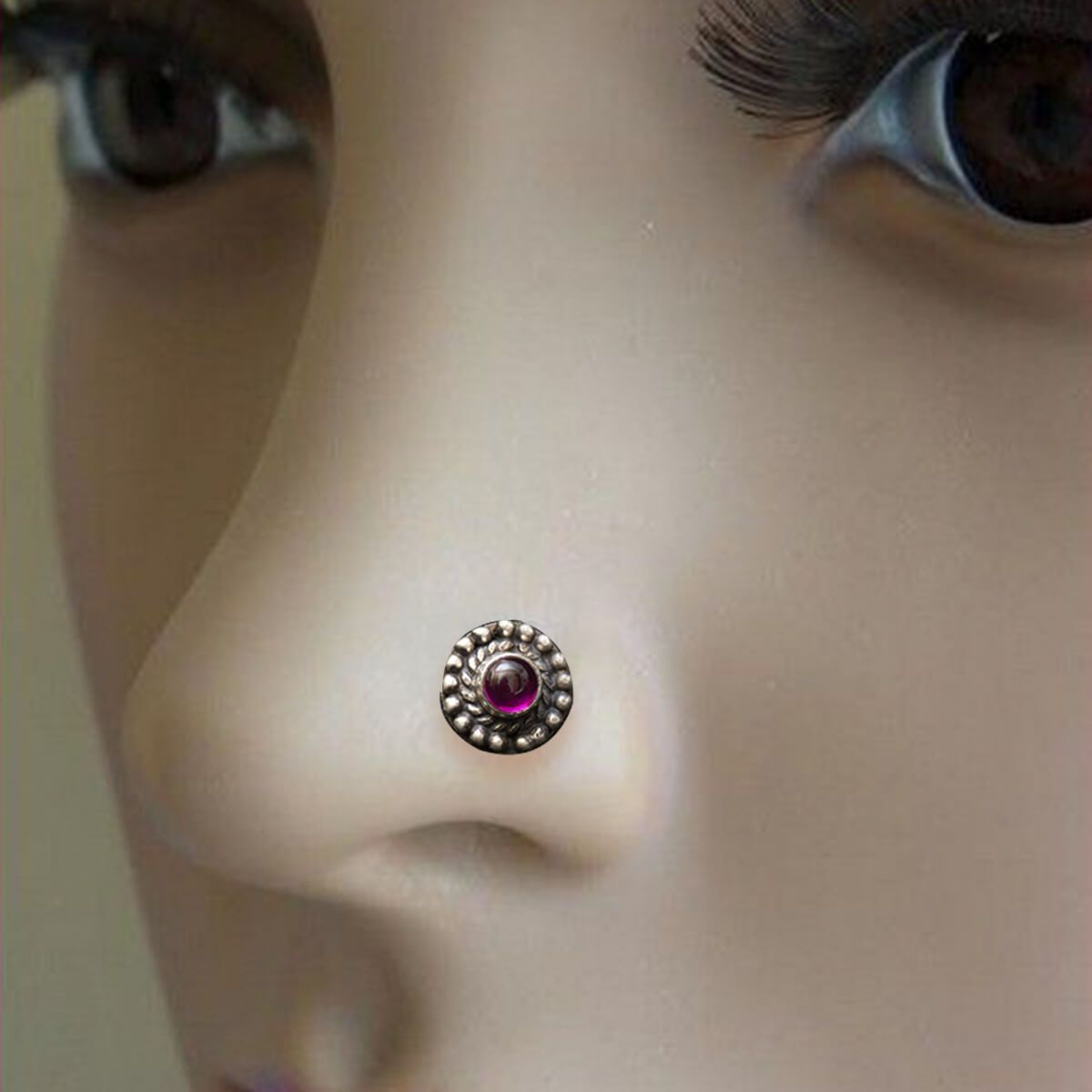 Silver Nose Pin