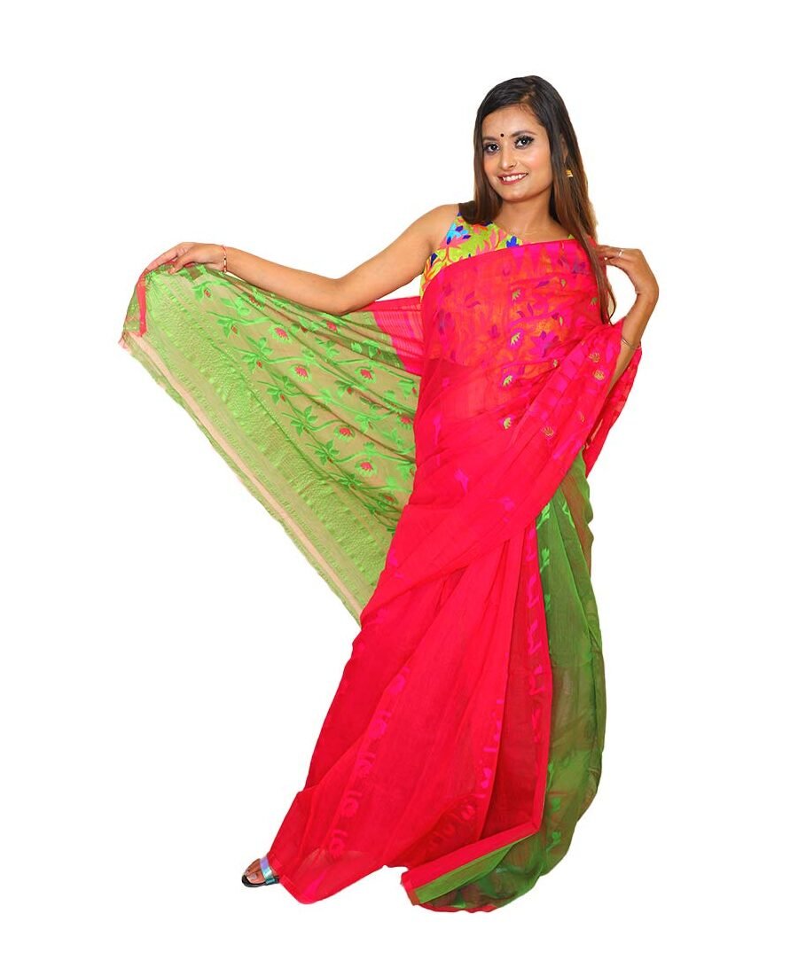 Handloom Cotton Jamdani Saree