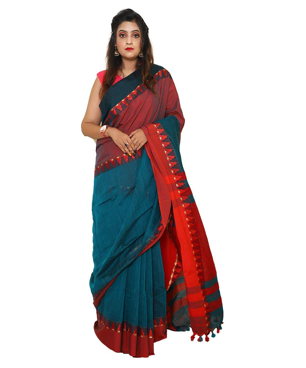 Soft Khadi Cotton with Temple Design Saree
