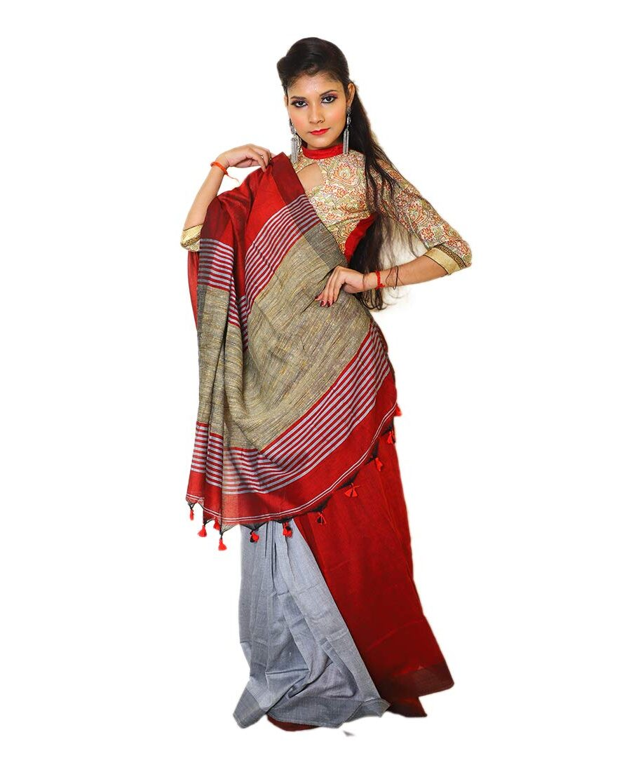 Khadi Cotton Saree with Gicha Pallu