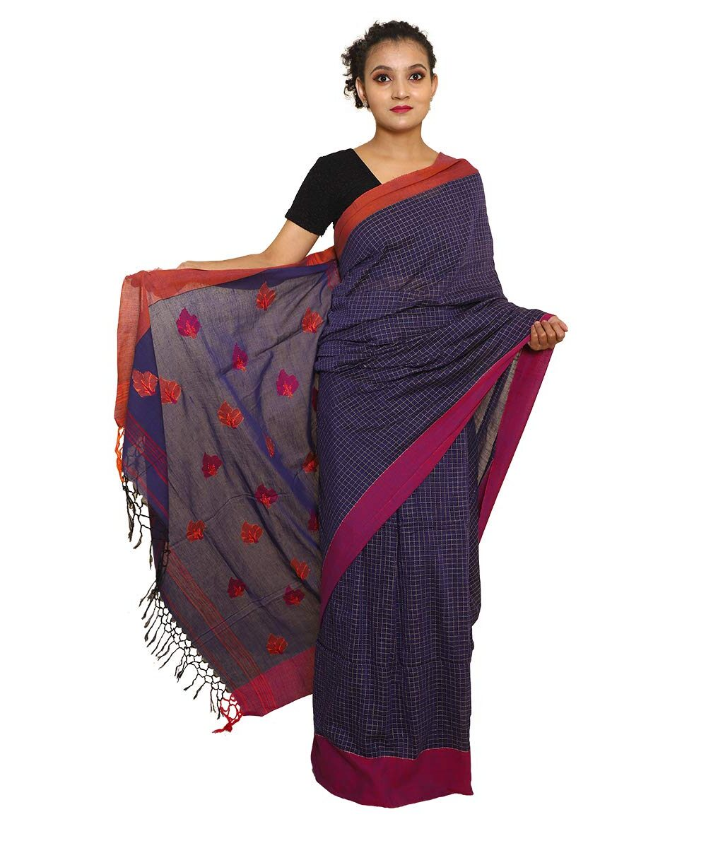 Pure Soft Khadi Checked Handloom Saree