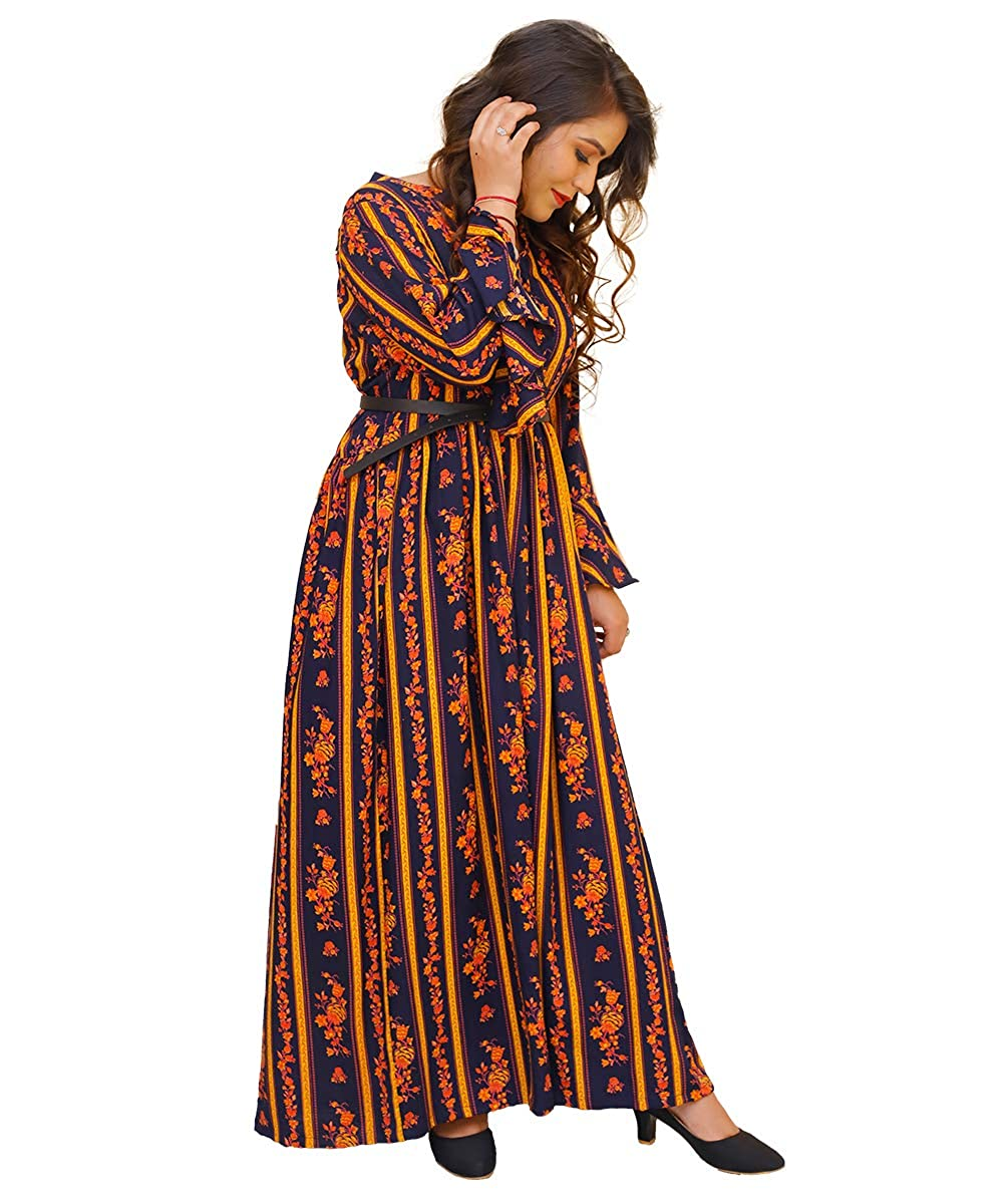 Women Printed Rayon Gown