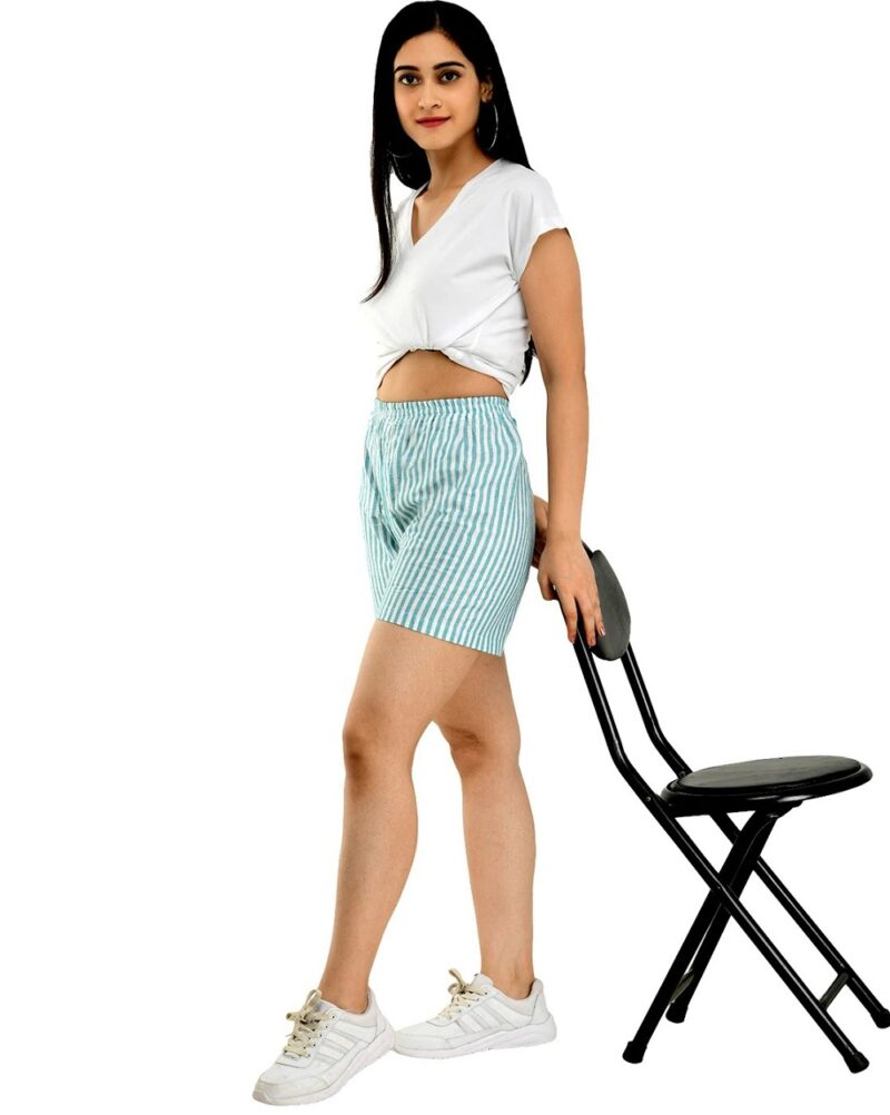 Striped Shorts with Elasticated Waistband