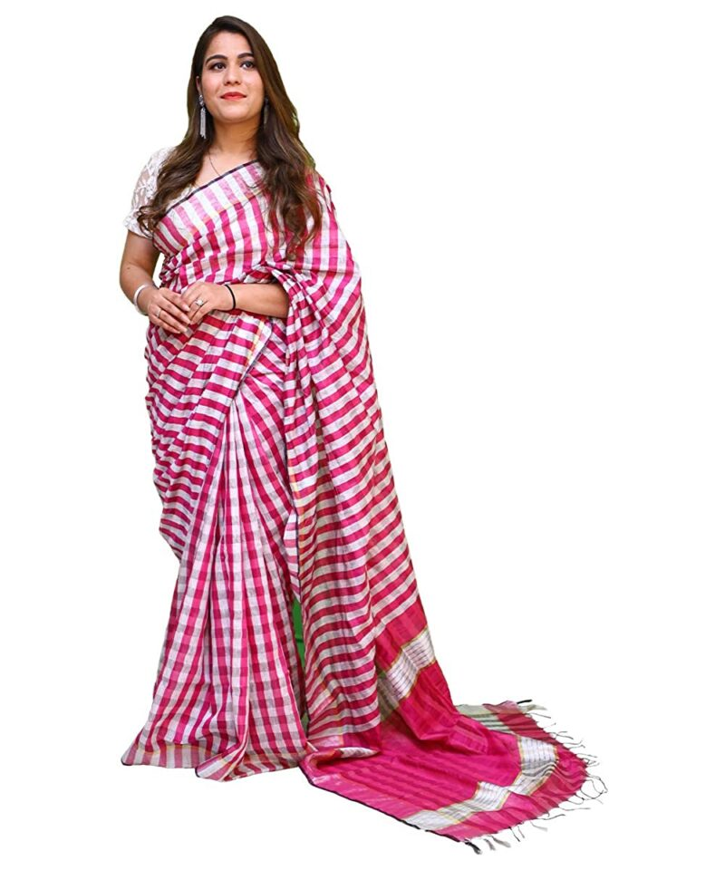 Women's Cotton Silk Saree With Unstitched Blouse Piece