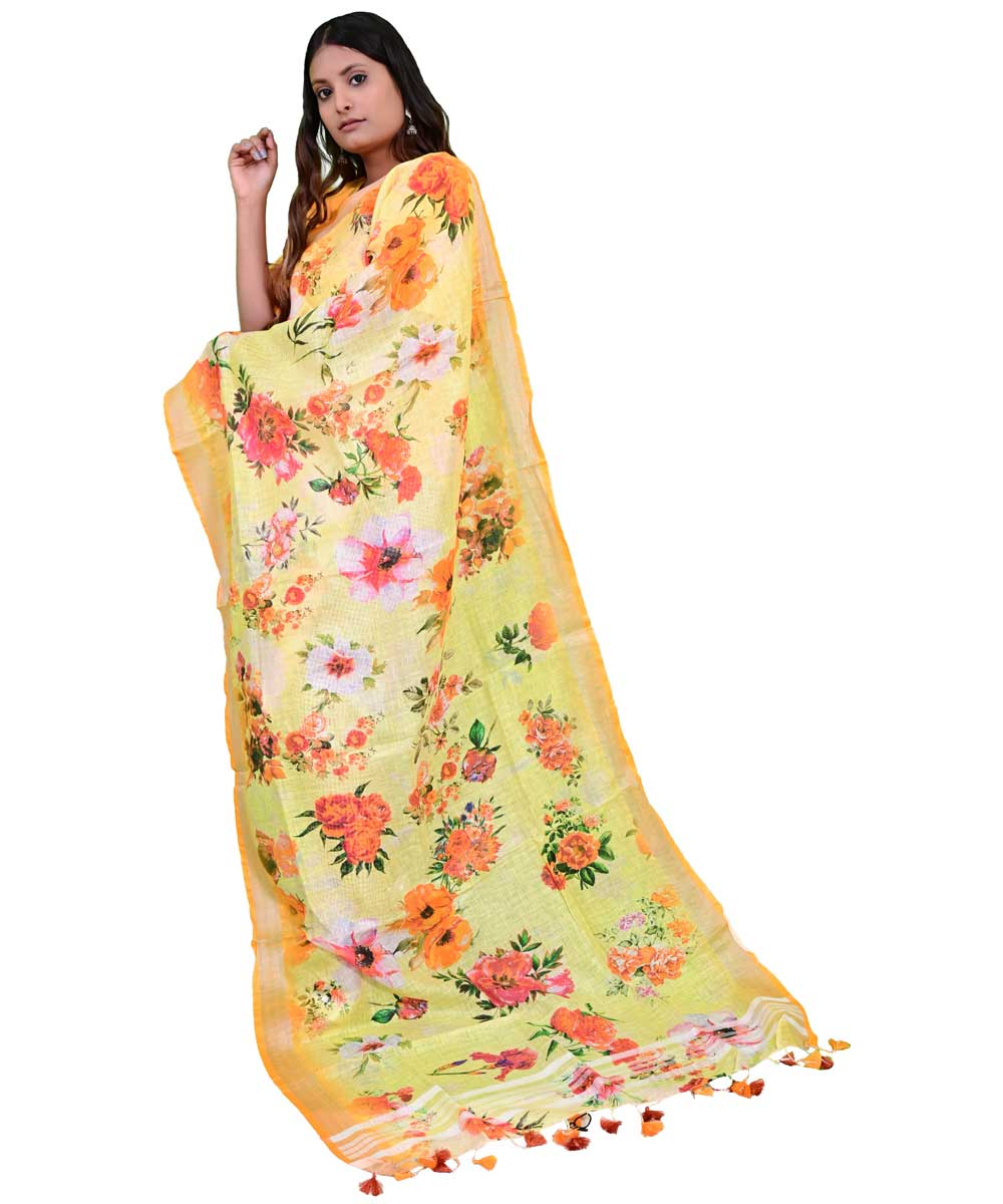 Women's Digital Printed Linen Dupatta